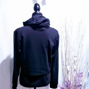 "MediabyMedina Tops - ""Not Today"" Black crop top hoodie size L🦄💋"